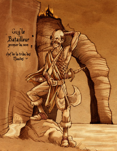 Les Pirates Mauves : Guy le Batailleur. Illus. : Le Myr - 98.6 ko